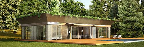 maison cologique en bois riko by starck. Black Bedroom Furniture Sets. Home Design Ideas