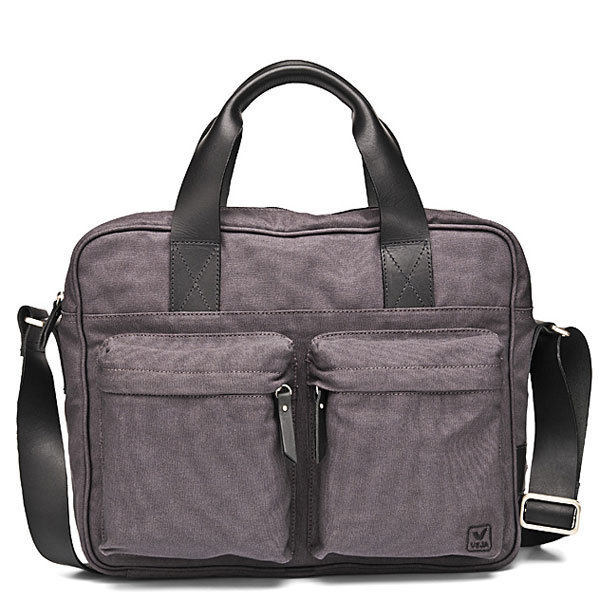 Portedocument Gris En Coton Bio Acacia De Veja - Sac porte document femme