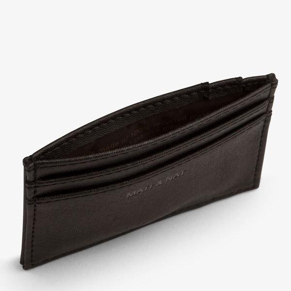 Porte carte max en cuir vegan noir matt nat for Porte 3ds max