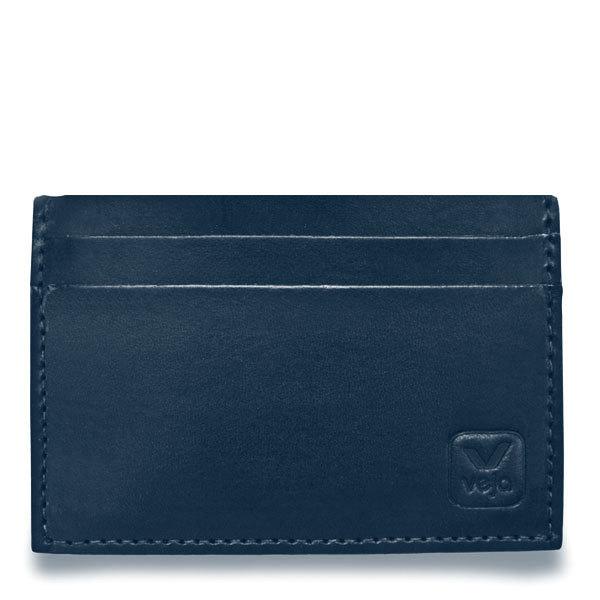 Porte carte soleta en cuir v g tal bleu de veja for Porte carte homme