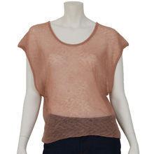 Pull ample & court Mero en cachemire rose