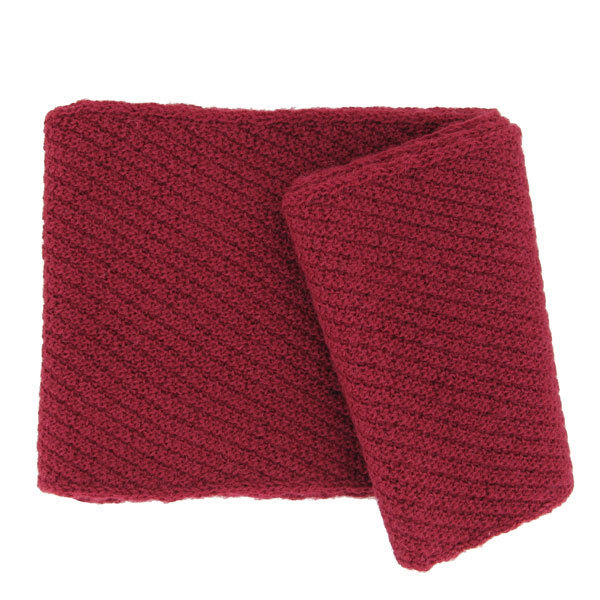 Echarpe en laine d alpaga rouge - Punto Andes Made d563756c66e