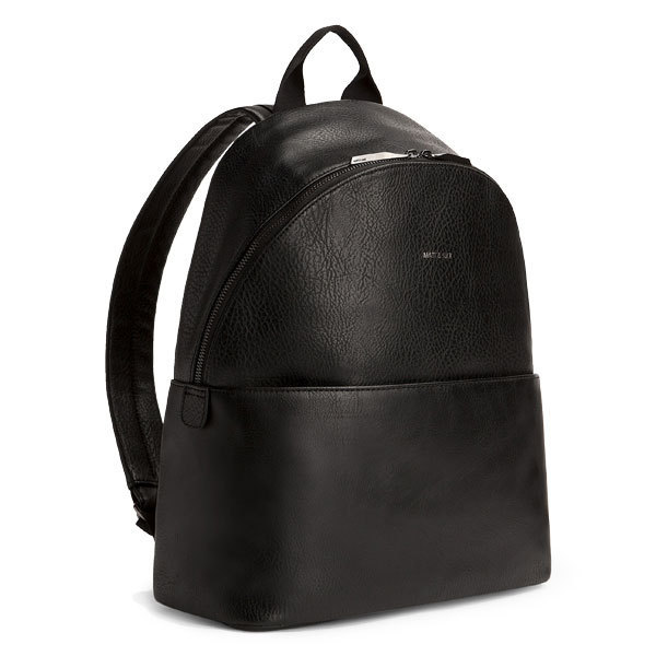 63d70dc8f631 Sac à dos July en cuir vegan noir - Matt   Nat
