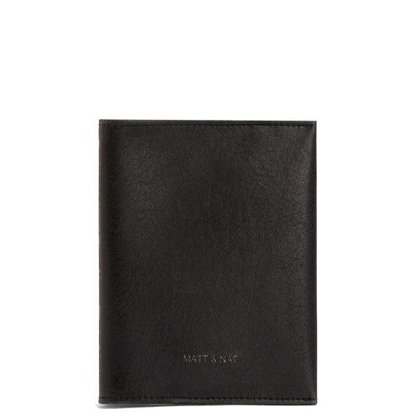 1b0e23f15a Protège passeport en simili cuir vegan noir Voyage - Matt & Nat