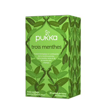 Tisane Three Mint - Fraîcheur & digestion - Pukka