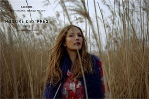 Affiche de la marque de parfum de niche Honoré des Prés
