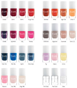 Pantone des couleurs tendance de la collections de vernis à ongles Kure Bazaar