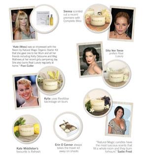 Stars et princesses fan de la marque de beauté bio Neom Luxury Organics